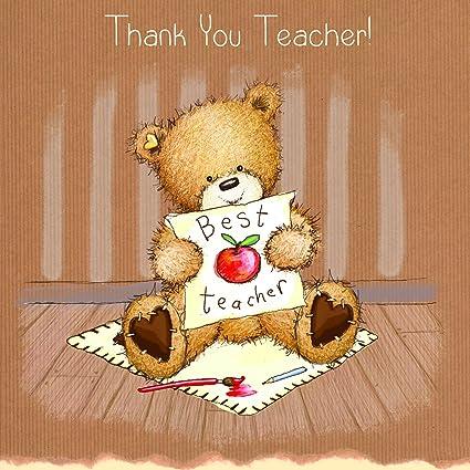 Twizler palomitas de maíz the Bear gracias profesor Tarjeta ...