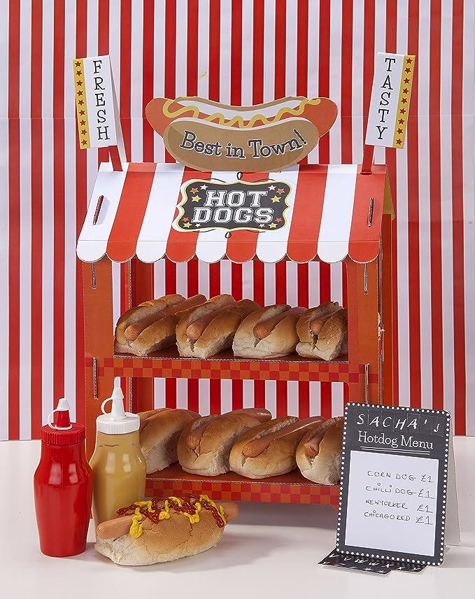 Talking Tables puesto de perritos calientes/ de palomitas. Decoración reversible divertida para fiestas y cumpleaños.: Amazon.es: Hogar