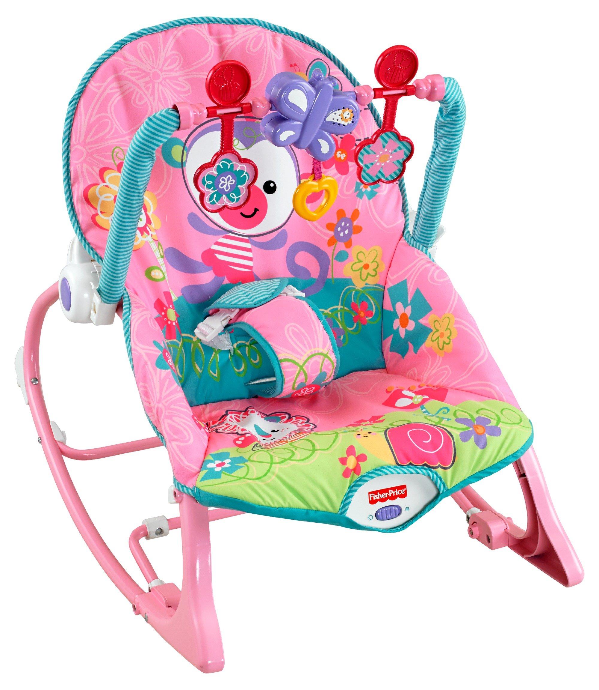 Fisher price infant to toddler rocker dark Chaise vibrante