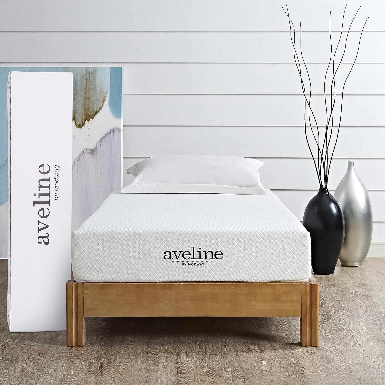 amazon com modway aveline 8 gel infused memory foam twin mattress