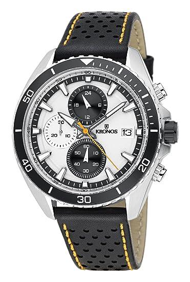 94b2b20a70cc KRONOS - Sport Q Racing Chrono Silver K005.105 - Reloj de Caballero de  Cuarzo