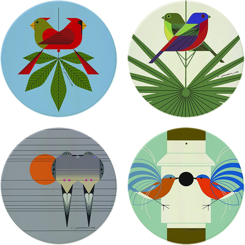 Kitchen, Dining & Bar Charles/Charley Harper Love Birds Absorbent ...