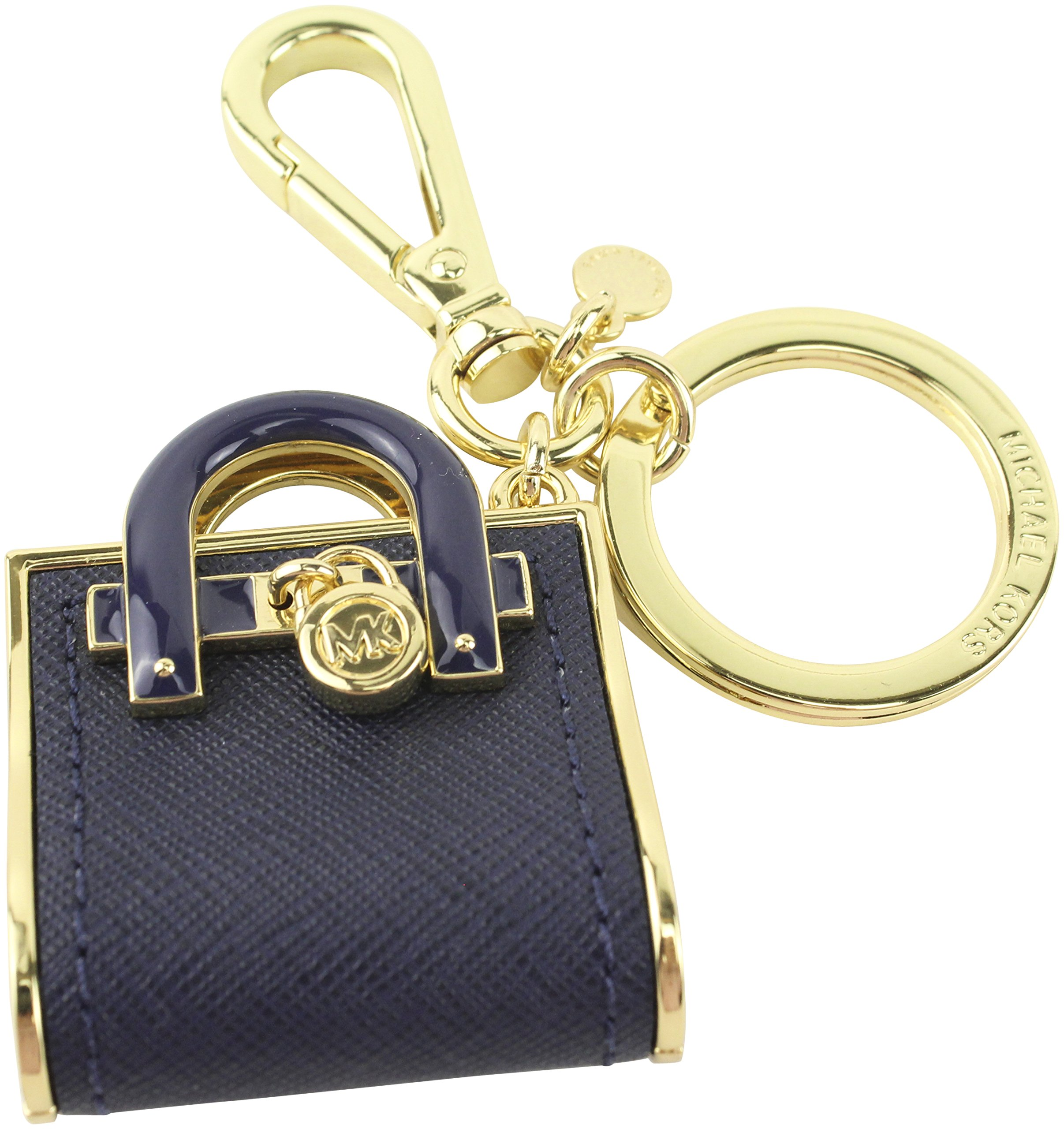 Michael Kors Hamilton Mk Hand Bag Key Charm Fob / Purse Charms Onse Size Navy