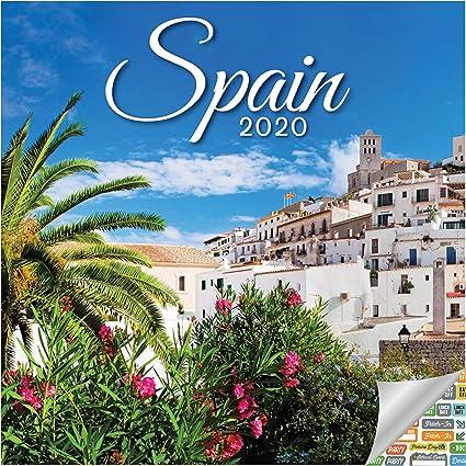 Calendario de pared 2020 del Reino de España con más de 100 pegatinas de calendario: Amazon.es: Oficina y papelería