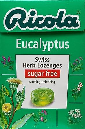 Ricola - Caramelos Eucaliptus Sin Azucar, 50 Gramos