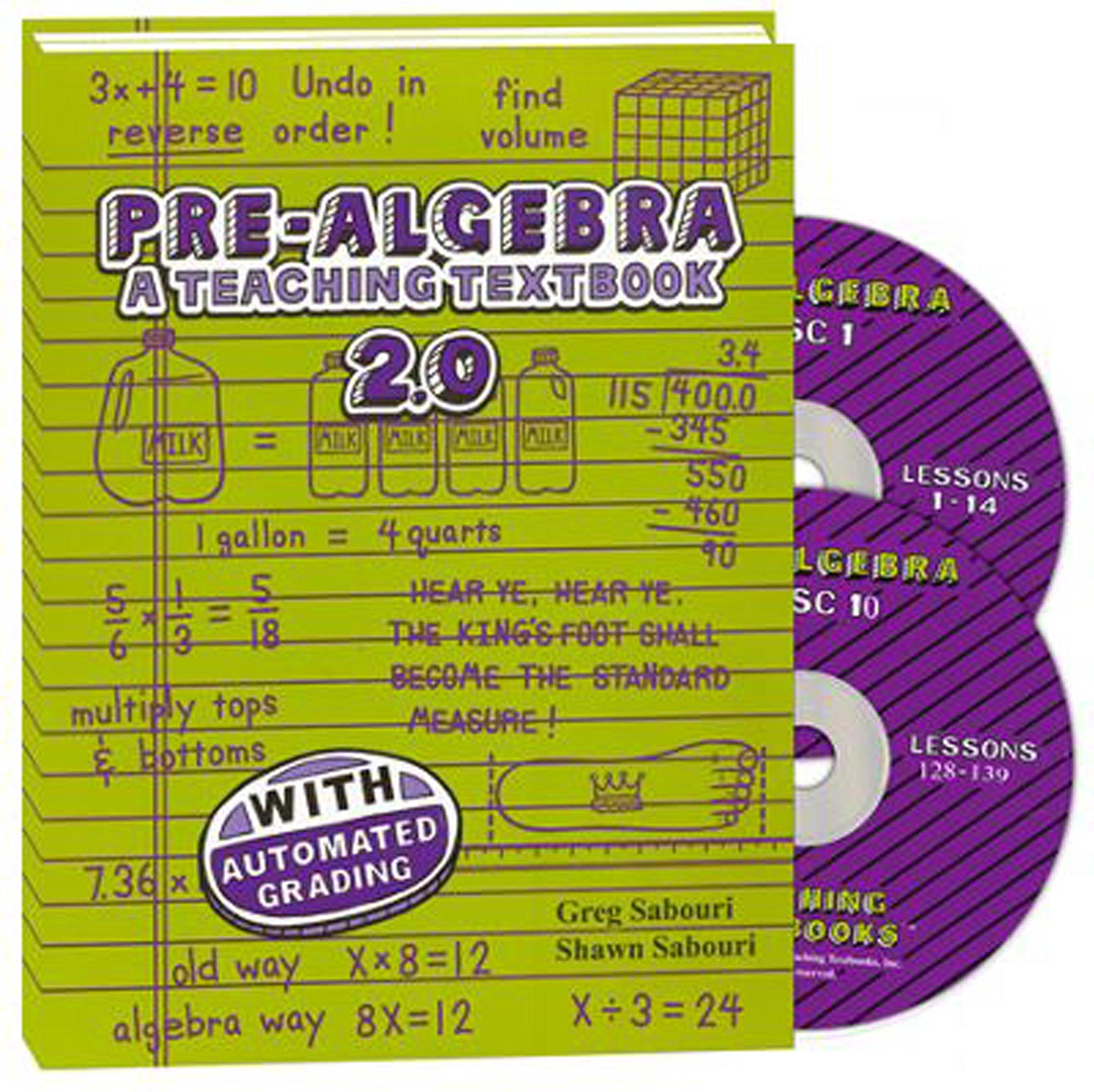 Teaching Textbooks: Pre-Algebra CD-Rom Set, Version 2.0: Amazon.com: Books