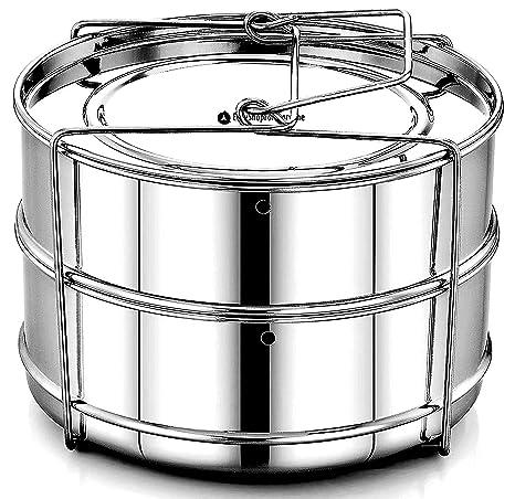 easyshopforeveryone IP Accesorios – apilables de acero inoxidable olla a presión vapor Insertar sartenes con agujeros