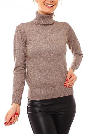 Qualität neue bilder von hoch gelobt Fragolamoda Damen Feinstrick Rollkragen Pullover