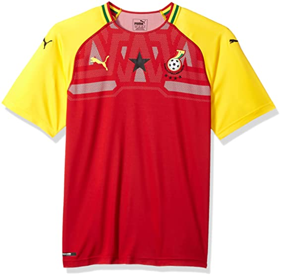 Amazon.com  PUMA Mens Gfa Ghana Home Shirt Replica SS  Clothing 8e20567ab
