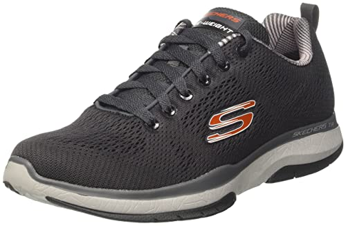 Skechers Sport Men's Burst TR Sneaker, Charcoal/Orange, 9.5 M US