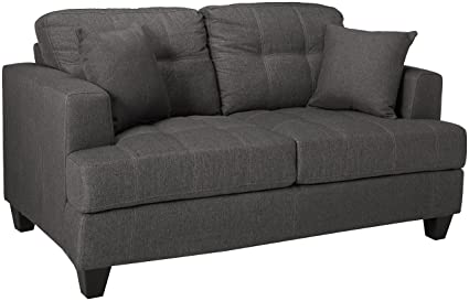 Coaster 505176 CO Samuel Tufted Loveseat, In Charcoal