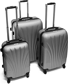 3-Piece ALEKO LG48SL ABS Luggage Suitcase Set + $11.85 Rakuten Credit