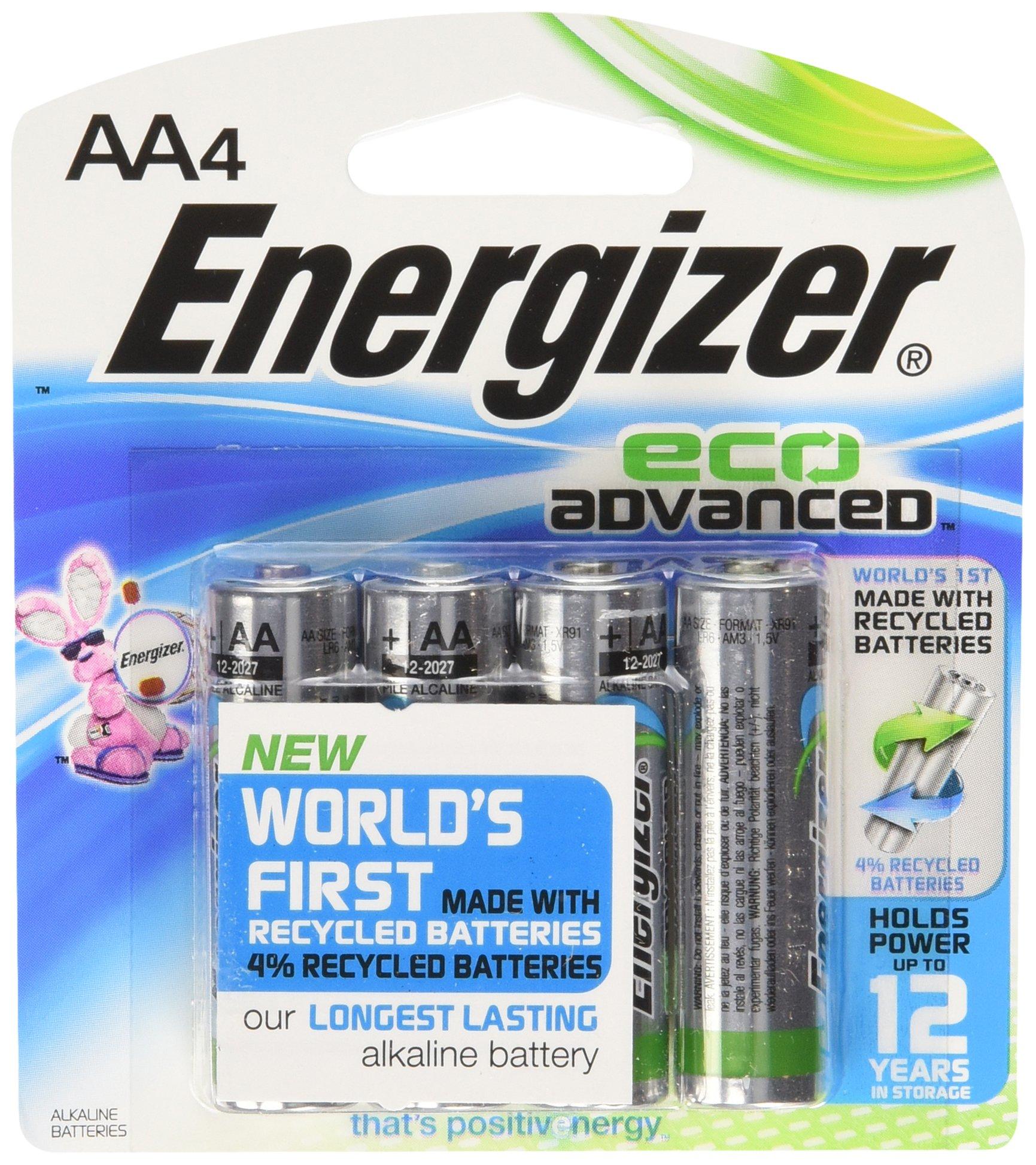 Energizer EcoAdvanced AA Batteries, Energizer's Longest-Lasting Alkaline, (4-pack) (pack of 24)