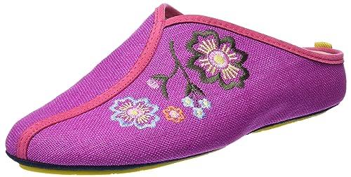 Nordikas Soft Sra, Zapatillas de Estar por casa con talón Abierto para Mujer, Morado (Violeta), 36 EU: Amazon.es: Zapatos y complementos