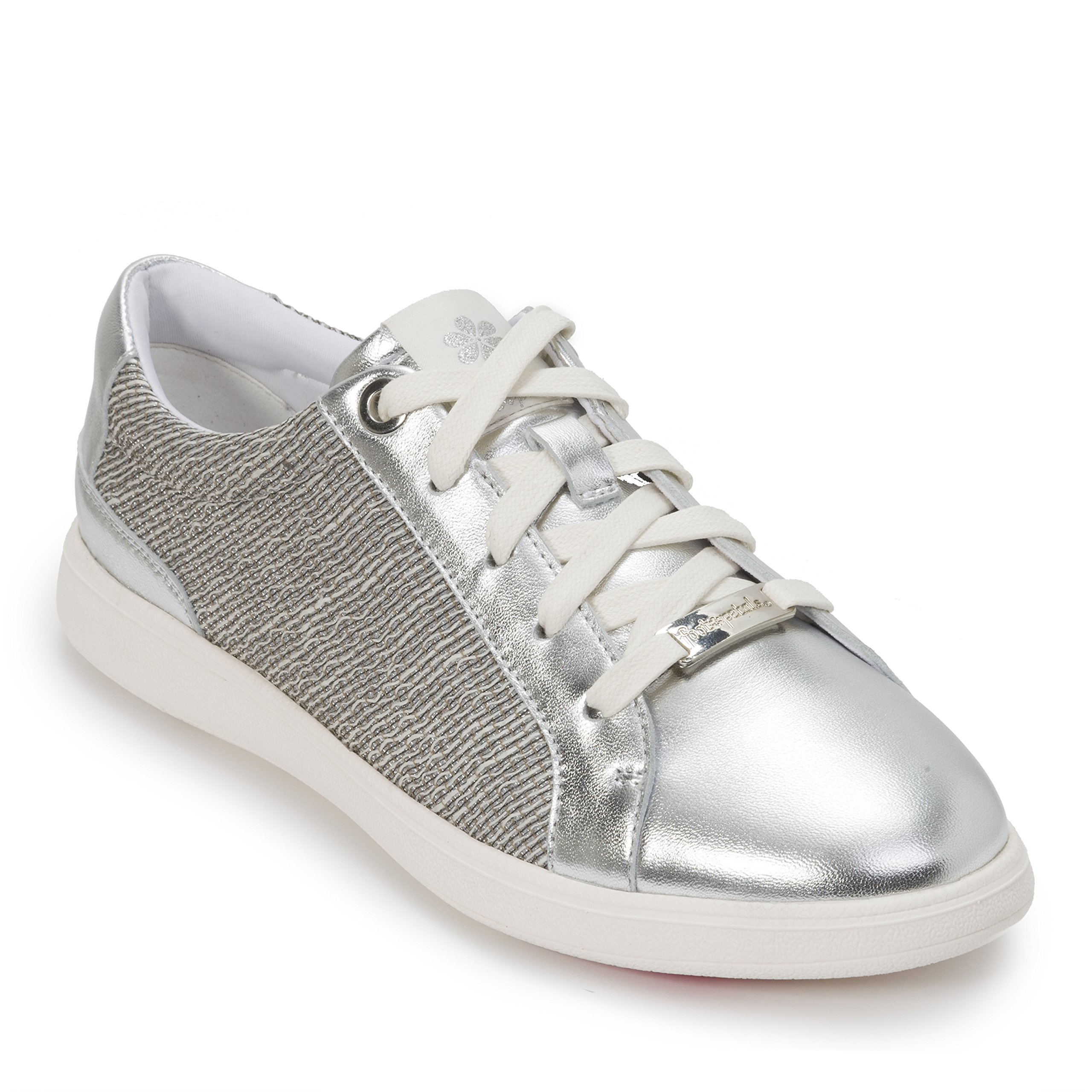 Foot Petals Cushionology Andi Lace up Silver Size 8H
