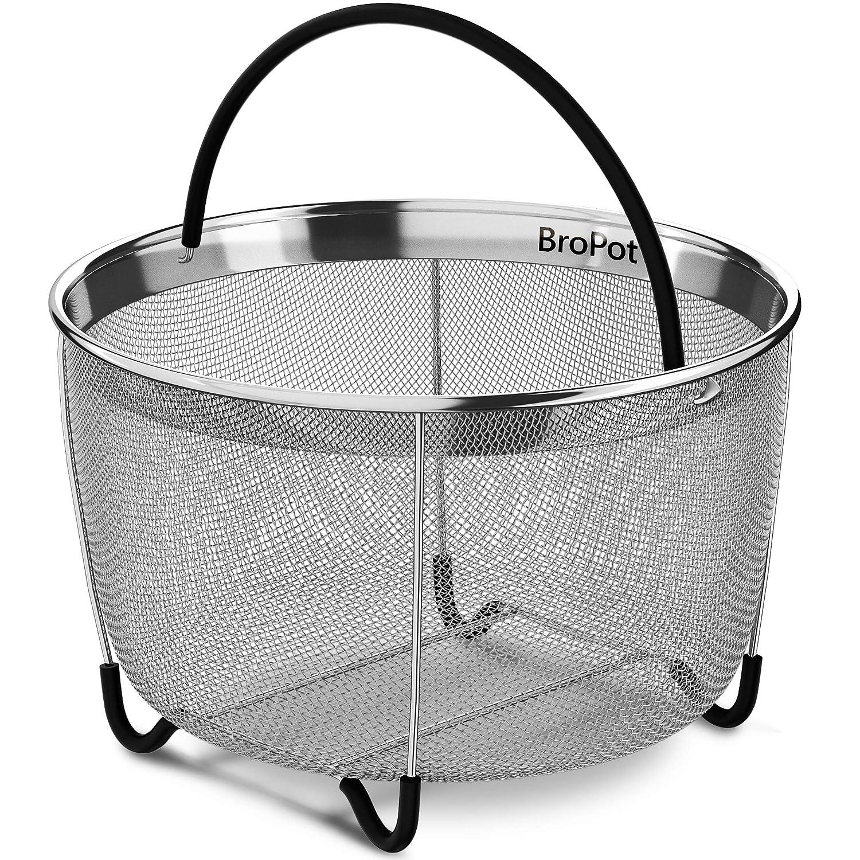 Steamer Basket - Instant Pot Accessories - Vegetable Steamer Basket - EXCLUSIVE Steamer Basket 6qt Pressure Cooker Accessories Fits Insta Pot IP InstaPot Food Steamer Rice Cookers and Pots 6 qt 8qt