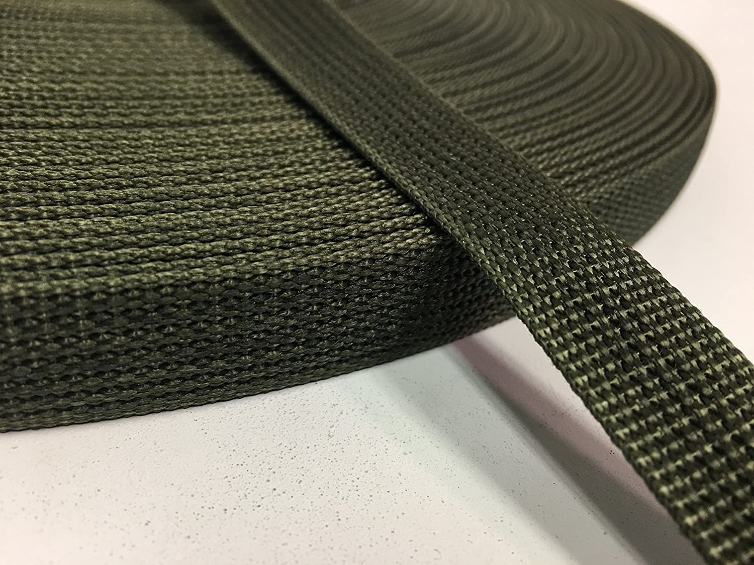 5 YARDS OF 3//4 Inch MilSpec Military Webbing MIL-W-43668 RANGER GREEN Per Yard