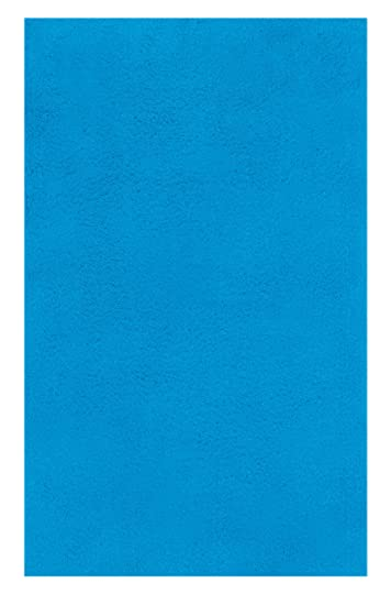 Spirella Green Concept True Acqua Blue Bath Rug- Bath Mat 22x26 in. (55x65cm