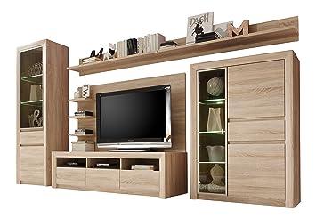Trendteam Wohnzimmer 5 Teilige Set Kombination Sevilla, 342 X 200 X 51 Cm In