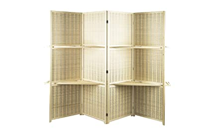 Amazoncom AVIGNON HOME Deluxe Woven Bamboo Tall Wide Room Divider