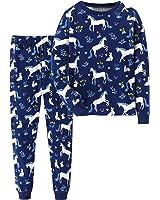 Jobakids Girls Pajamas Set 100% Cotton Snuggle Fit 2 Piece Pajamas Set