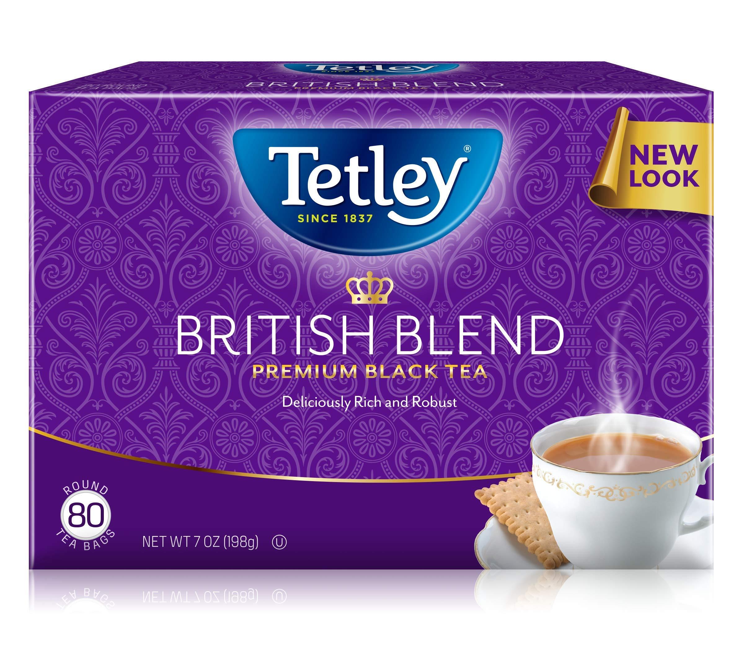 Tetley British Blend Premium Black, 80-Count Tea Bags, 7 Ounce, (Pack of 6) by Tetley