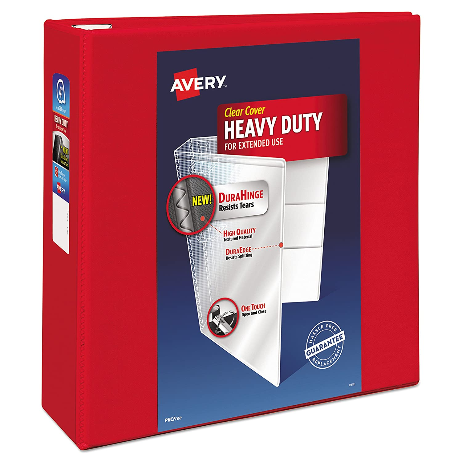Avery Heavy Duty View Binders with One Touch EZD(TM) Ring, Holds 8-1/2 Inch x 11 Inch Paper, 2 Inch Ring, Red (79225) Avery Products Corporation