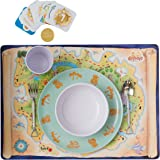 Mealtime Adventures Educational Dinner Game / Table Game for Kids. Includes Gotrovo Game Board, Reward Game Cards, Fun Novelty Cutlery and Dinner Set all in one