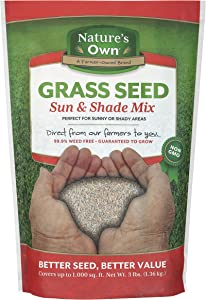 Mountain View Seeds Natures Own Sun & Shade Mix Grass Seed, 3-pounds