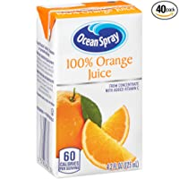 Deals on 40-Pack Ocean Spray 100% Orange Juice 4.2 Ounce Juice Box
