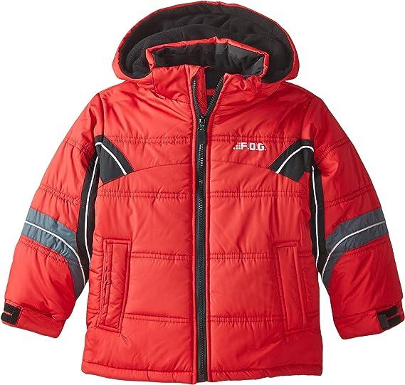 London Fog Boys Black /& Red Puffer Jacket Size 4 5//6 7
