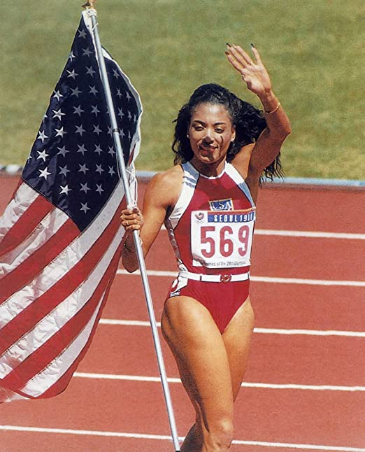 FLORENCE GRIFFITH-JOYNER USA OLYMPIC SPRINTER 8X10 SPORTS ACTION PHOTO (S)