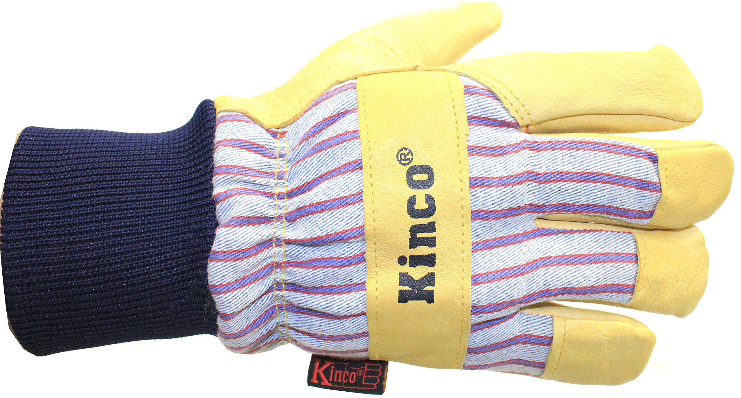 Kinco 1927KW Lined Grain Pigskin Leather Glove with Knit Wrist, Work, Large, Palomino (Pack of 6 Pairs) by KINCO INTERNATIONAL (Image #3)