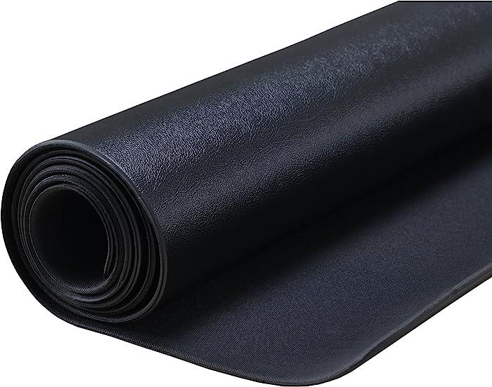 Sunny Health & Fitness Exercise Equipment Mat - Treadmill Mat, Exercise Bike Mat, Fitness Mat, Elliptical Mat, Jump Rope Mat, Gym Mat Use On Hardwood Floors and Carpet Protection