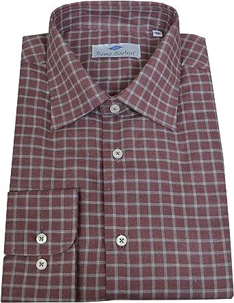 Remo Sartori - Camisa casual - Cuadros - Clásico - Manga larga - para hombre