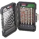 MIBRO 871060 High Speed Steel and Super Masonry Drill Bit Set, 17 Pieces