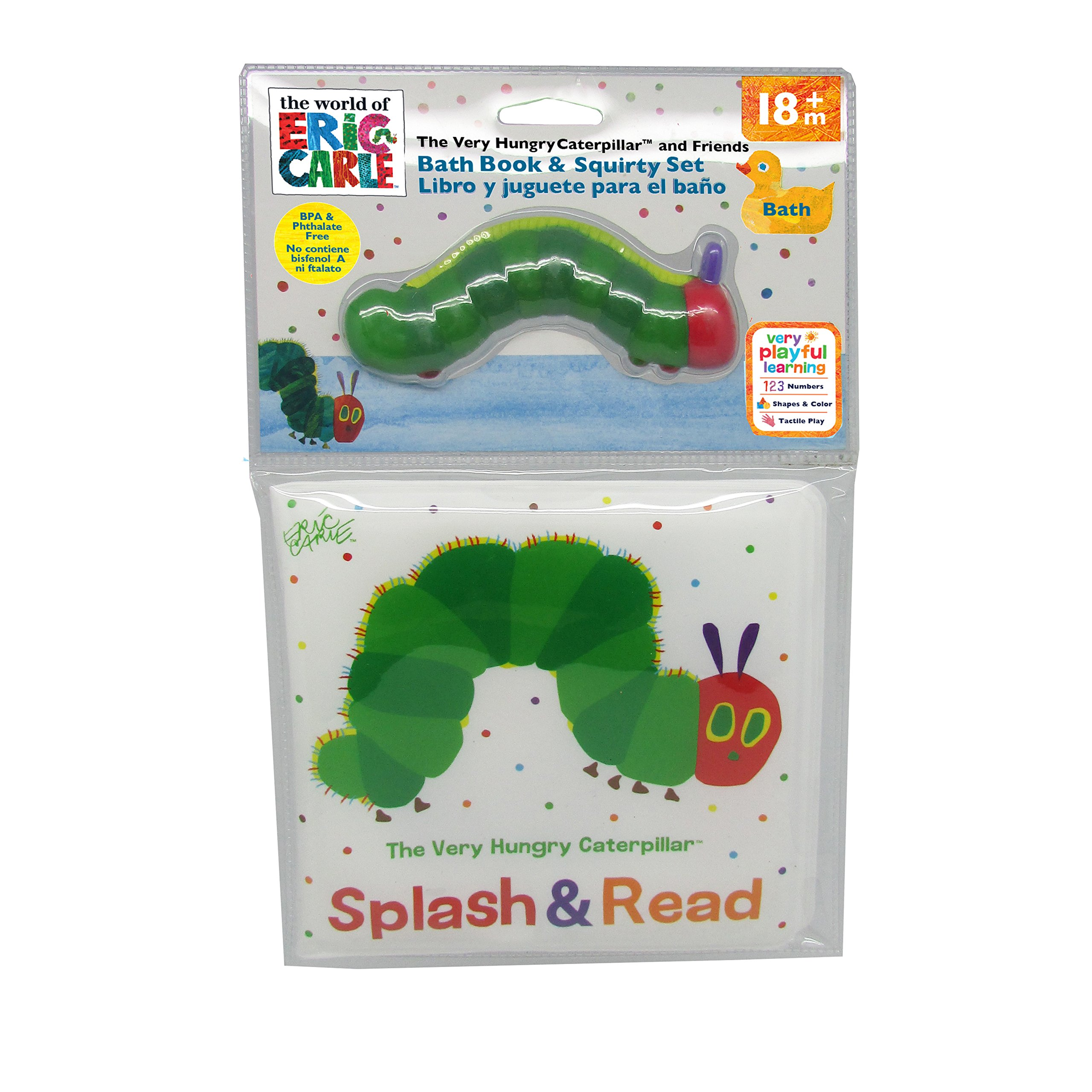 Eric Carle The Very Hungry Caterpillar Bath Book & Squirty