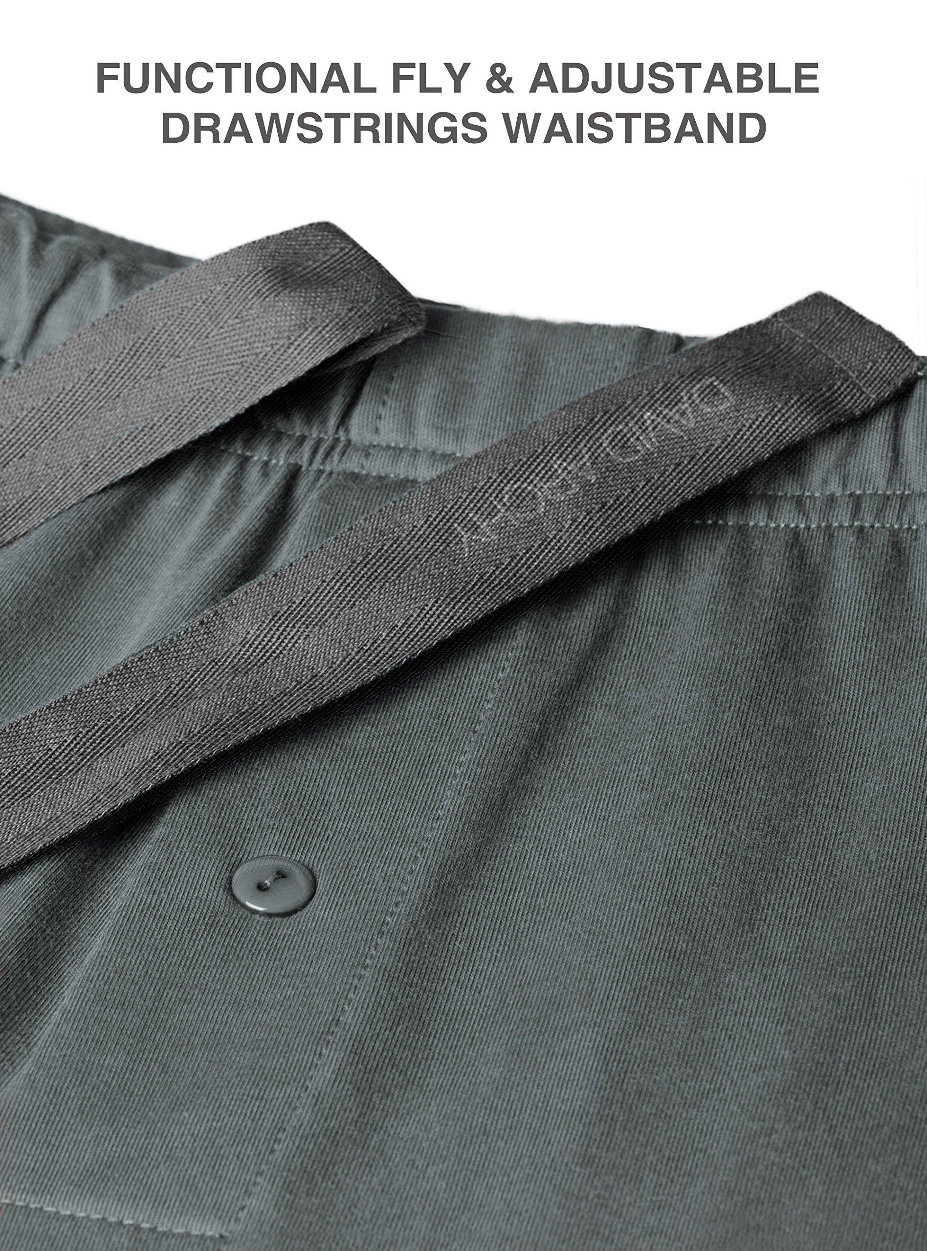 David Archy Men's 100% Cotton Long Button-Down Sleepwear Pajama Set (M, Dark Gray) by David Archy (Image #5)