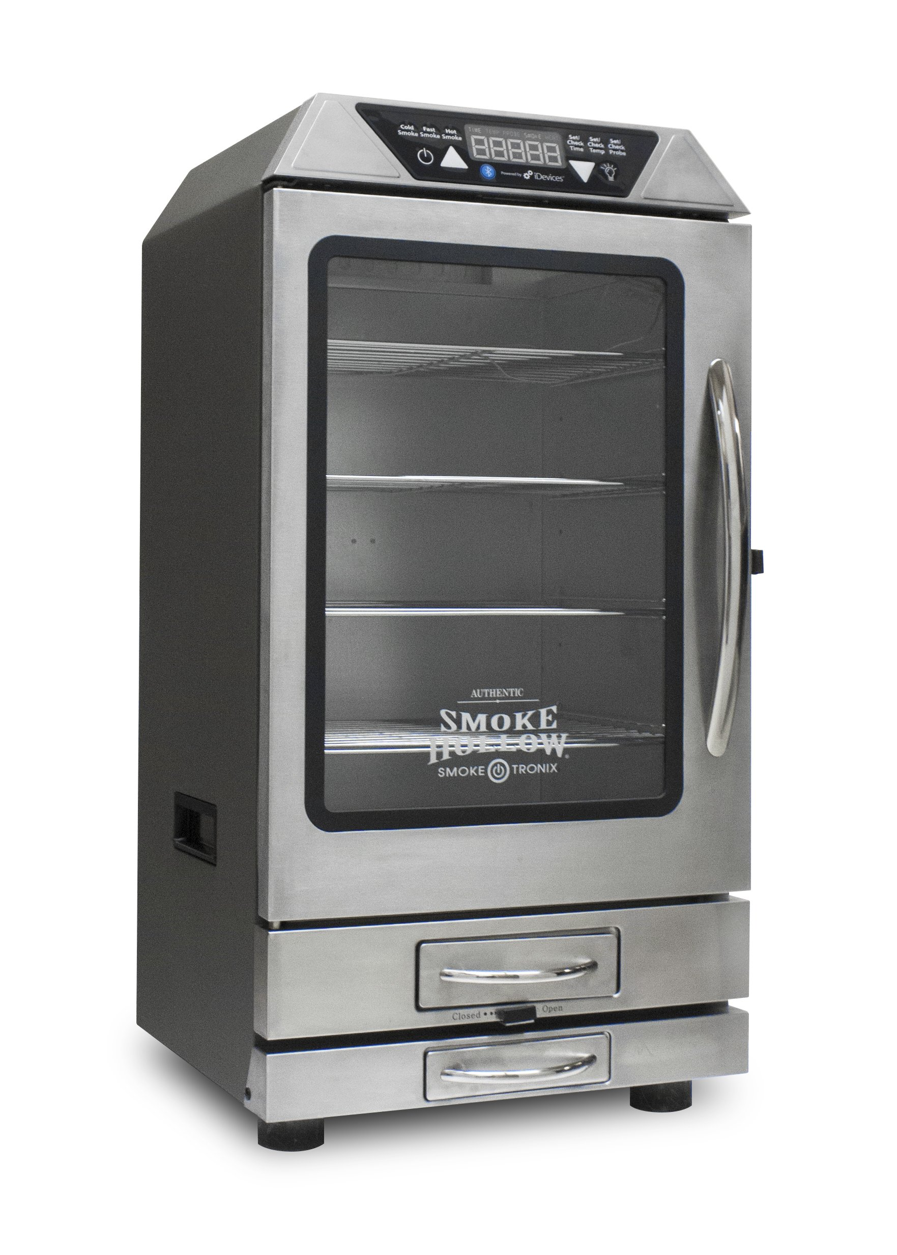 Smoke Hollow D4015SS 40'' Digital Electric Smoker with Smoke-Tronix Bluetooth Technology , Stainless Steel