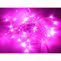 Karlling Battery Operated Pink 40 LED Fairy Light String Wedding Party Xmas Christmas Decorations(Pink)