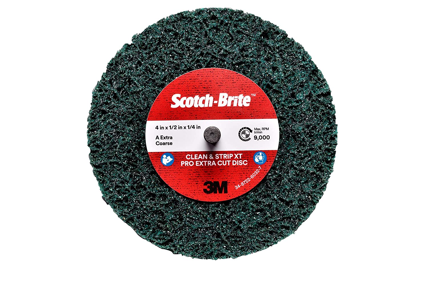 S XCS Scotch-Brite Clean and Strip XT Pro Disc 4 in x 1//2 in x 1//4 in 10 per case 3M Shaft Mount