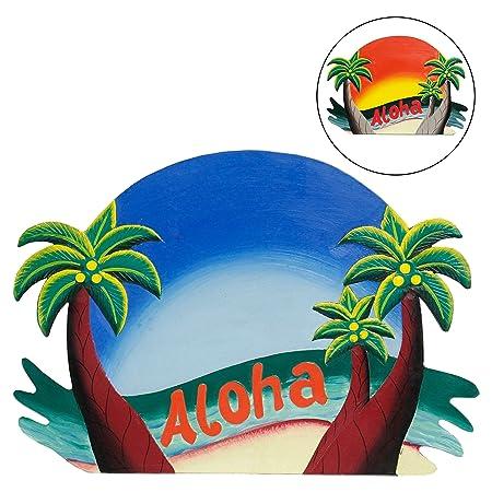 Pared Cartel Aloha Hawaii de bienvenida de placa decorativa ...