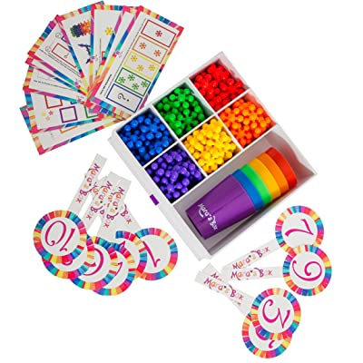 Mara's Box Different Rainbow Counting Bears with Matching Sorting Cups, 146pc Set + Toy Storage + Activity Cards, Montessori and STEM Learning Game, Quality Educational Resources and Learning Toys : Toys & Games