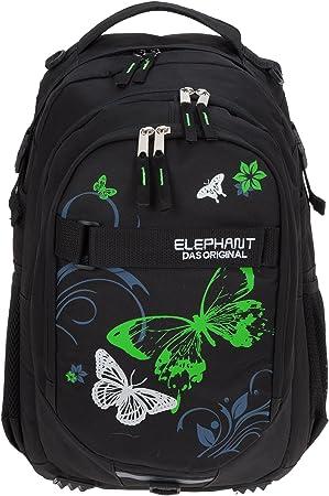 Schulrucksack Schulranzen schwarz Federmäppchen BEAUTY Schmetterling Rucksack