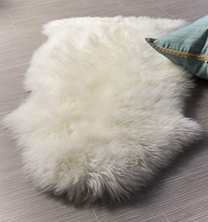 5c22e26aa3 Super Area Rugs Single Silky New Zealand Fur Sheepskin Rug Pelt