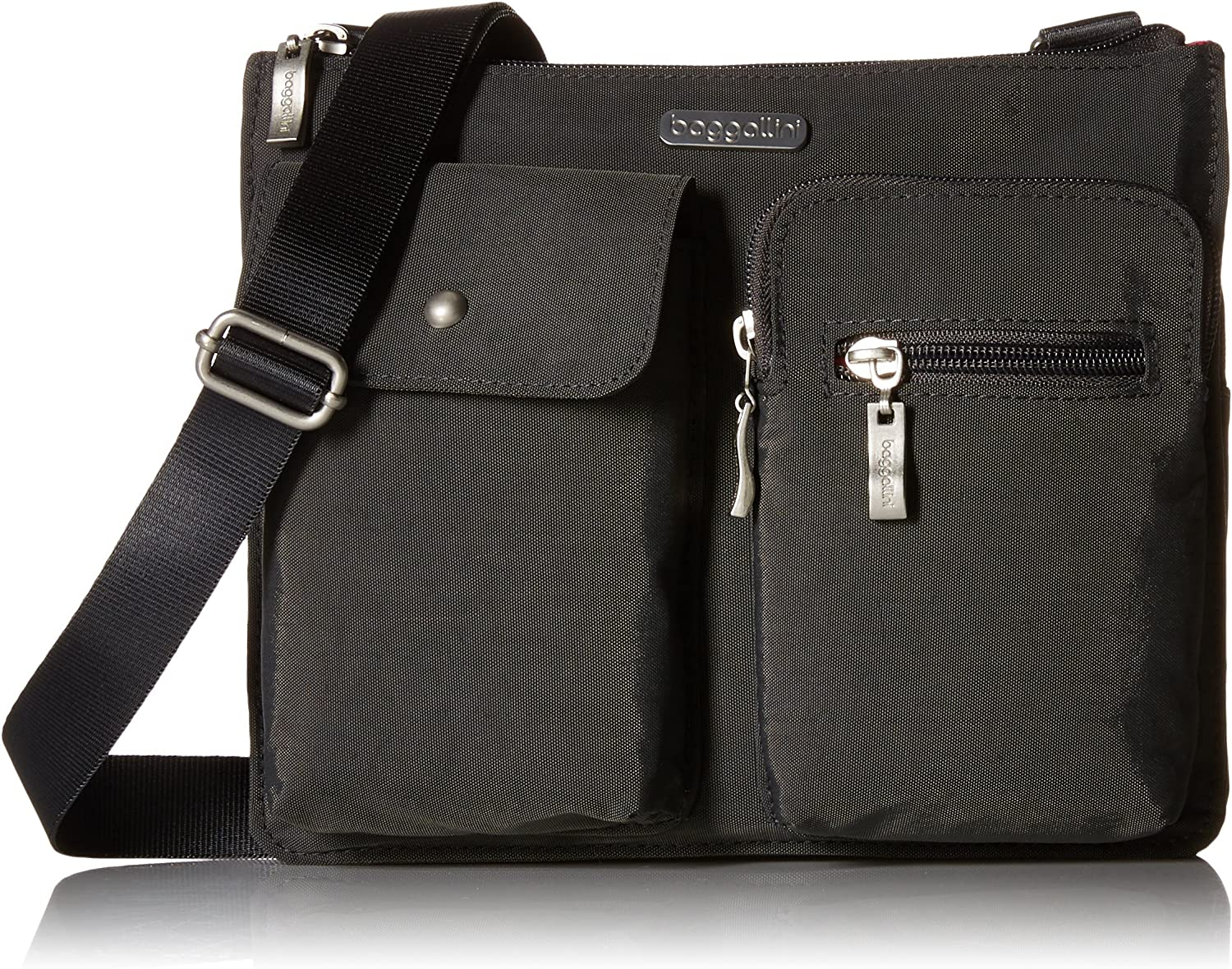 Baggallini Everything Crossbody Bag – Slim and Sleek, Lightweight, Multi-Pocketed Travel Bag with Removable Wristlet
