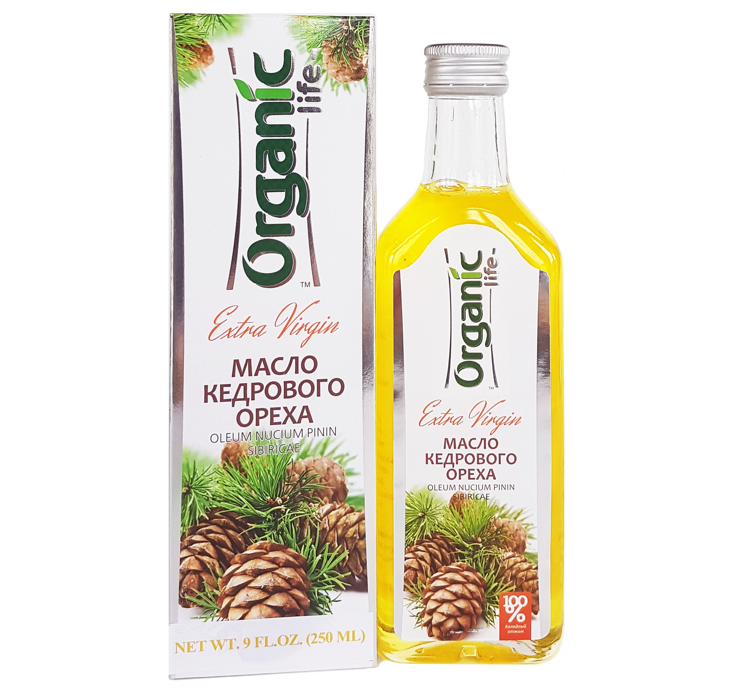 JUST ARRIVED!!! ORGANIC PINE NUT OIL - 9 oz/250ml. First Grade, Authentic and 100% Natural, Extra Virgin, Unfiltered, First Press Only, Cold-pressed. Pressed from Wild Harvested, Raw Pine Nuts.