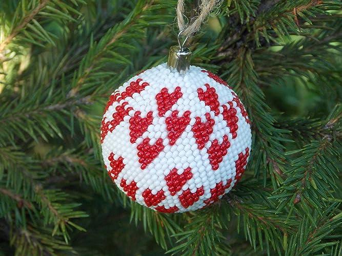 amazon com handmade love christmas ball heart decorations ornaments