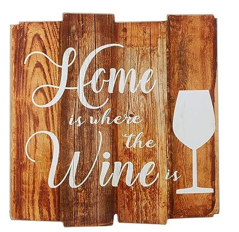 Tfh Cuadro De Pared De Vino Diseño Con Frases De Vino