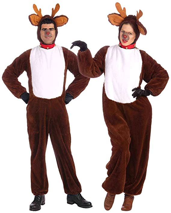 Amazon.com Forum Novelties Plush Reindeer Costume Brown Standard (One Size Fits Most Adults) Clothing  sc 1 st  Amazon.com & Amazon.com: Forum Novelties Plush Reindeer Costume Brown Standard ...
